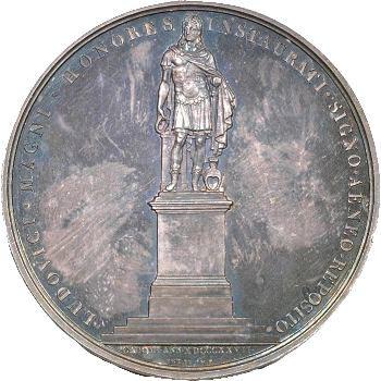 Restauration, Louis XVIII et Charles X, médaille argent, 1827