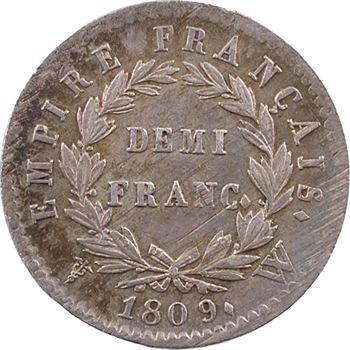 Premier Empire, demi-franc Empire, 1809 Lille