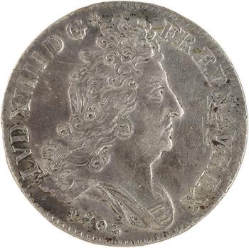 Louis XIV, pièce de dix sols aux insignes, 1703 Paris