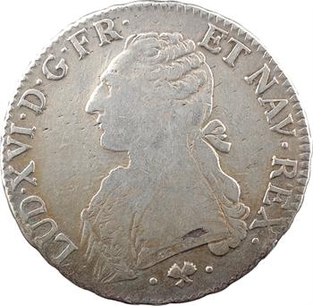 Louis XVI, écu aux branches d'olivier, 1777 Bayonne