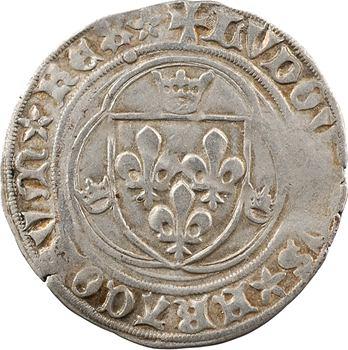 Louis XI, blanc à la couronne (FRACORVM et REX*), 2e émission, Châlons-en-Champagne