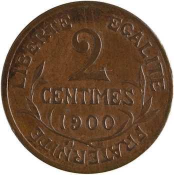 IIIe République, 2 centimes Daniel-Dupuis, 1900 Paris