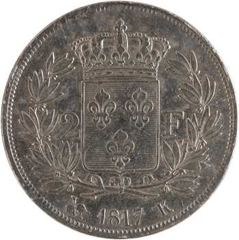Louis XVIII, 2 francs, 1817 Bordeaux