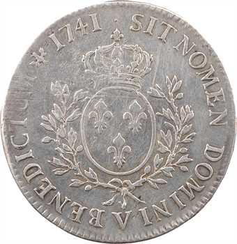 Louis XV, écu au bandeau, 1741 Troyes