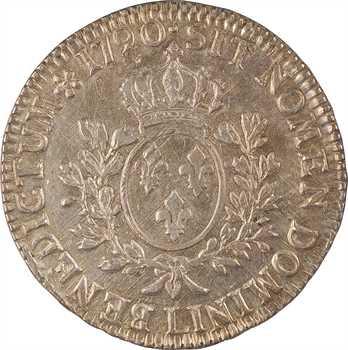 Louis XVI, écu aux branches d'olivier, 1790 Bayonne