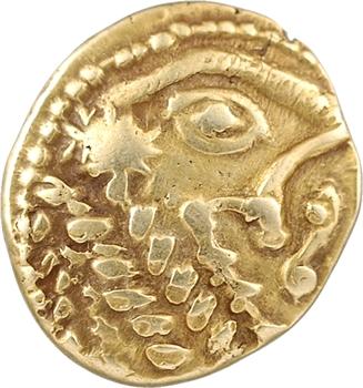 Bellovaques, statère à l'astre et au cheval à droite, c.80-50 av. J.-C