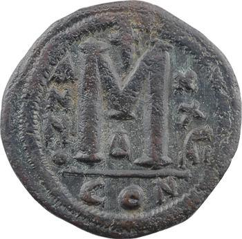 Justinien Ier, follis, Constantinople, 4e officine, An XXVIII = 554-555