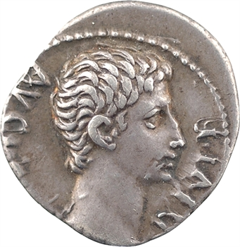 Auguste, denier, Lyon, 15-13 av. J.-C.