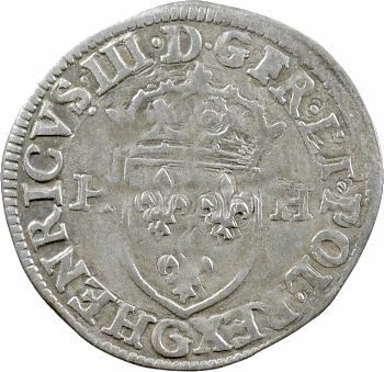 Henri III, douzain aux 2 H, 1er type, 1576 Poitiers
