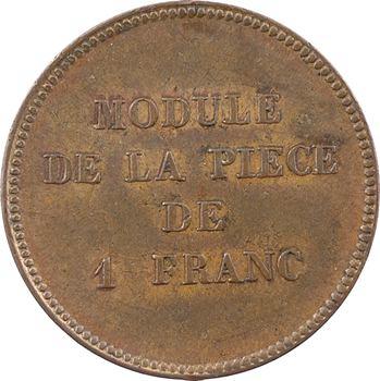 IIe République, essai au module de 1 franc par Barre, s.d. (1848) Paris