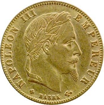 Second Empire, 5 francs tête laurée, 1867 Strasbourg