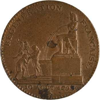 Convention, 5 décimes régénération, An 2, 1793 Paris