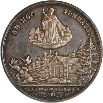 Suisse, Schwytz, abbaye d'Einsiedeln, millénaire de la mort de Meinrad, par Sebald, 861-1861