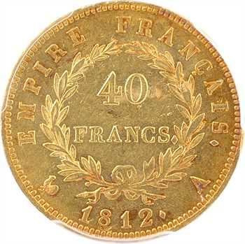 Premier Empire, 40 francs Empire, 1812 Paris, PCGS MS62