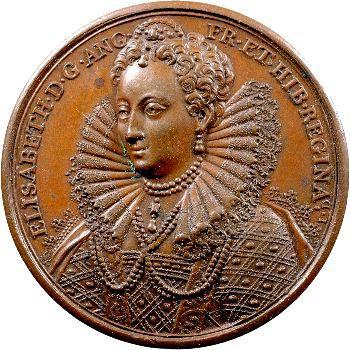 Angleterre, série des Rois par Jean Dassier, Élisabeth Ire, s.d. (c.1731-1732)