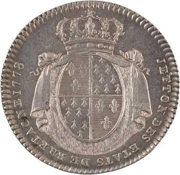 Louis XVI, États de Bretagne, 1778 Paris