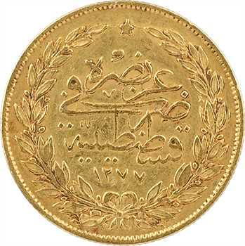 Turquie, Abdul Aziz, 100 kurush, AH 1277/5 (1866) Constantinople