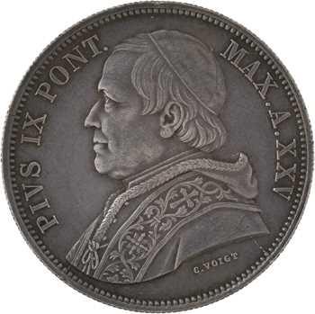 Vatican, Pie IX, 5 lire, 1870/XXV Rome