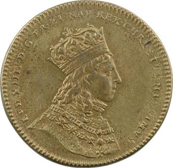 Louis XIV, sacre à Reims le 7 juin 1654, bronze, 1654 [postérieur ?] Paris