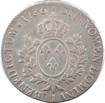 Louis XVI, écu aux branches d'olivier, 1786 Limoges
