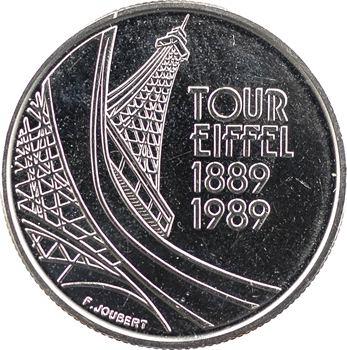 Ve République, essai de 5 francs centenaire de la tour Eiffel, 1989 Pessac