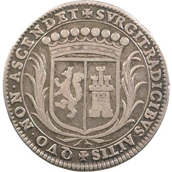 Nicolas Fouquet, jeton en argent, 1654 Paris