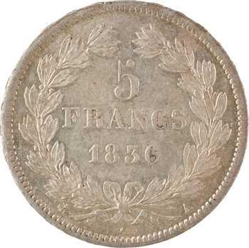 Louis-Philippe Ier, 5 francs IIe type Domard, 1836 Paris
