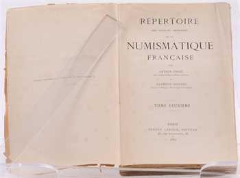 Engel (A.) et Serrure (R.), Répertoire des sources imprimées de la numismatique française, 2 vol., 1887 et 1889