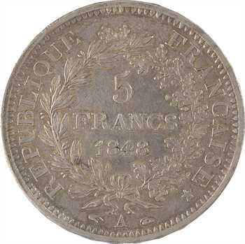 IIe République, 5 francs Hercule, 1848 Paris