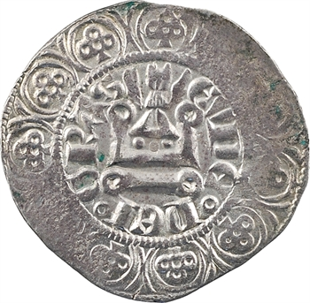 Bourgogne (duché de), Eudes IV, gros au grand-duc, imitation du gros à la couronne de Philippe VI, s.d. (c.1340)