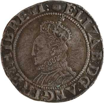 Royaume-Uni, Elisabeth Ire, shilling 6e issue, s.d. (1592-1595) Londres