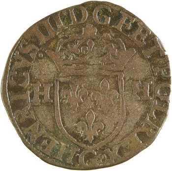 Henri III, douzain aux 2 H, 1er type, 1588 Poitiers