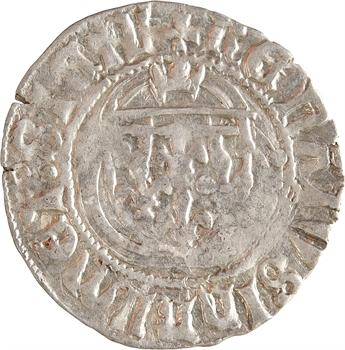 Provence (comté de), René d'Anjou, petit blanc à la couronne ou demi-parpaïolle, s.d. Aix-en-Provence