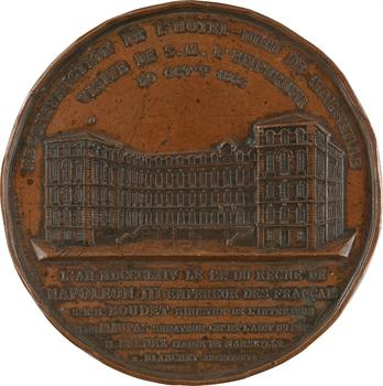 Second Empire, reconstruction de l'Hôtel-Dieu de Marseille, par Caqué, 1864 Paris