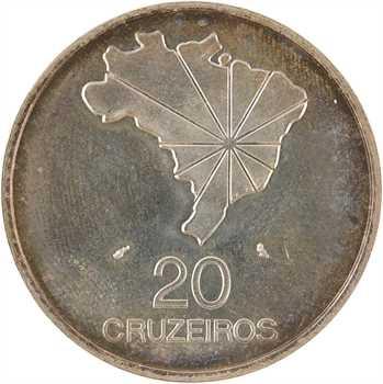 Brésil (République du), 20 cruzeiros, 150e anniversaire de l'indépendance, 1972 Paris