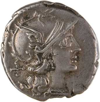 Scribonia, denier, Rome, 154 av. J.-C