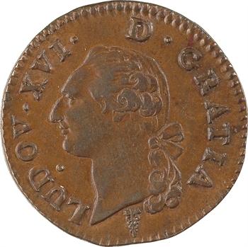 Louis XVI, sol de bronze, 1791, 2d semestre, Bordeaux