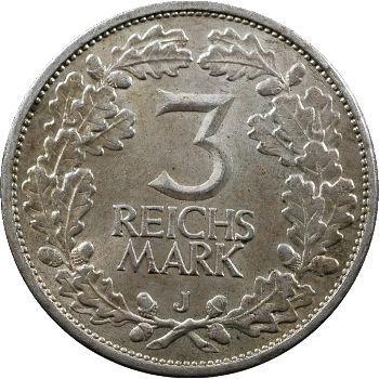 Allemagne (Empire d'), 3 reichsmark, 1925 Hambourg