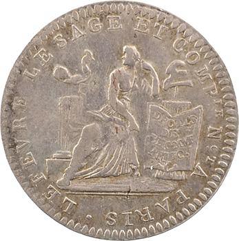 Constitution, Bon pour 10 sols Lefèvre et Lesage, frappe médaille, An 4, 1792 Paris