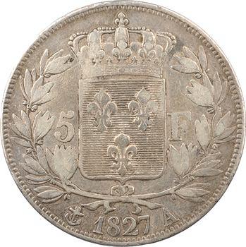 Charles X, 5 francs 2e type, 1827 Paris