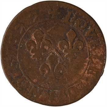 Dombes (principauté de), Marie de Montpensier, double tournois 5e type, 1627 Trévoux