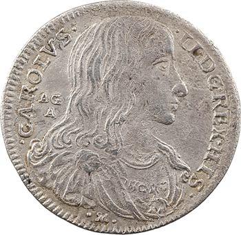 Italie, Naples (royaume de), Charles II, tari ou 2 carlins, 1689 Naples