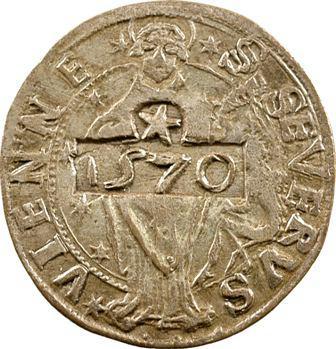 Dauphiné, Vienne, méreau du Chapitre de Saint-Sévère, 1524 puis 1570