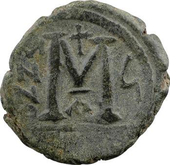 Justin II et Sophie, follis, Constantinople, 1re officine, An 6 = 570-571