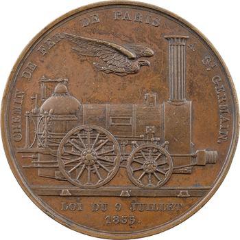Louis-Philippe Ier, le chemin de fer de Paris à Saint Germain, 1835 Paris