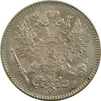 Finlande, Nicolas II, 50 penniä, 1915 Helsinki
