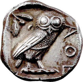 Attique, tétradrachme, Athènes, c.527-430 av. J.-C.