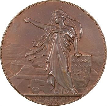 Siège de Paris, emploi des aérostats pour la défense, par Chaplain, 1870-1871 Paris