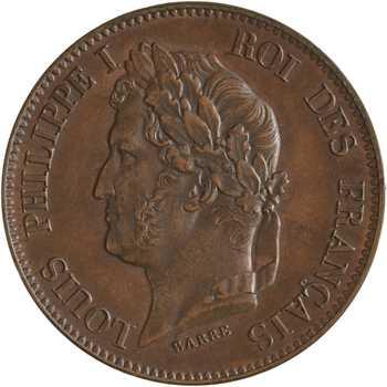 Louis-Philippe Ier, essai de 5 centimes, refonte des monnaies de cuivre, s.d. Paris