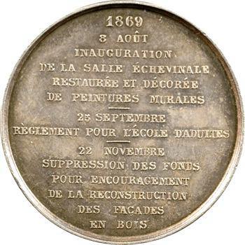 Belgique, Ypres (ville d'), jeton de présence, 1869